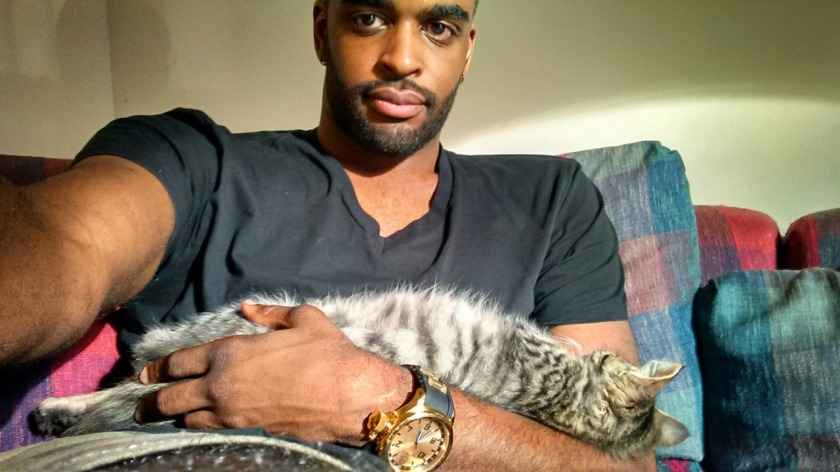 hot guys with cats 1